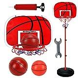 HSKB Einstellbare Basketballständer, Basketballkorb mit Ständer Höhenverstellbar Basketball-Backboard Ständer Hoop Set für Kinder Basketball Ständer Hoch 63-150CM