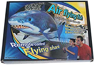 Funny Remote Controlled Flying Electric Sky Shark RC Air Swimming Fish Toys Drone RC Shark Clown fish Nitrogen Fish Balloo...