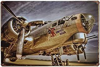 MARQUISE & LOREAN   Placas Decorativas Metálicas Aviones Segunda Guerra Mundial Carteles Vintage Chapas Casa Mira Aquí