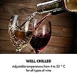 Klarstein Vinetage Uno Weinkühlschrank, Temperatur: 4-22 °C, Kompressor, 2 Holzregalebenen, LED-Beleuchtung, UV-Schutz, Weinkühler, Klein, Freistehend, 46 Liter / 12 Flaschen, Rot - 5