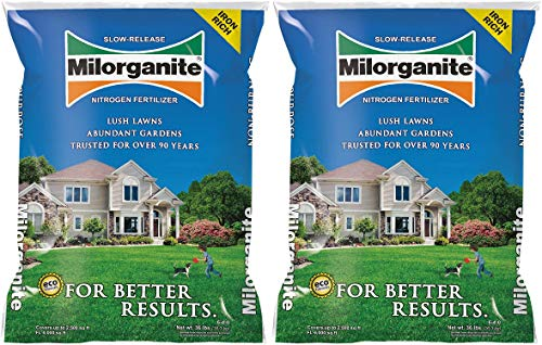 Milorganite 0636 Organic Nitrogen Fertilizer, 32-Pound, Pack...