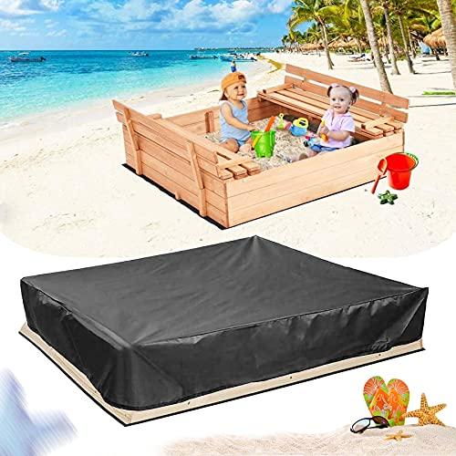 Bâche de protection étanche pour bac à sable 120 x 120 x 20 cm