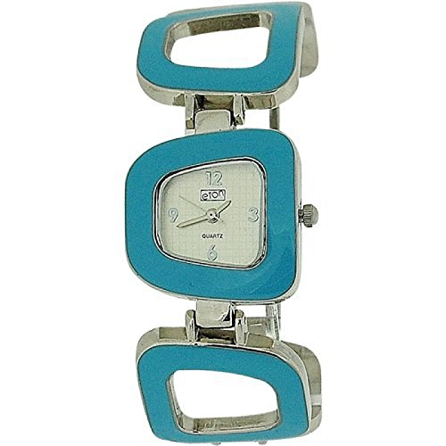 Eton 2716LTurquoise - Orologio da polso, cinturino in metallo colore blu