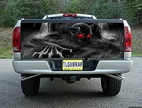 Avery T23 Skeleton Skull Graveyard Tailgate WRAP Vinyl Graphic Decal Sticker F150 F250 F350 Ram Silverado Sierra Tundra Ranger Frontier Titan Tacoma 1500 2500 3500 Bed Cover Tint Image