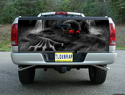 Avery T23 Skeleton Skull Graveyard Tailgate WRAP Vinyl Graphic Decal Sticker F150 F250 F350 Ram Silverado Sierra Tundra Ranger Frontier Titan Tacoma 1500 2500 3500 Bed Cover Tint Image
