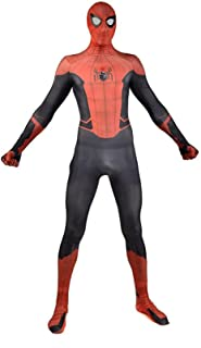 Spiderman Costume Superhero Cosplay Bodysuit Kids Skinny Garment Lycra Spandex Far From Home Movie Fans Apparel Jumpsuit U...