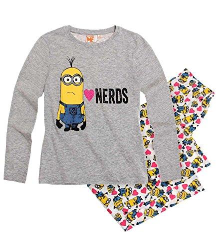 Minions Despicable Me Chicas Pijama–gris Gris gris 6 años