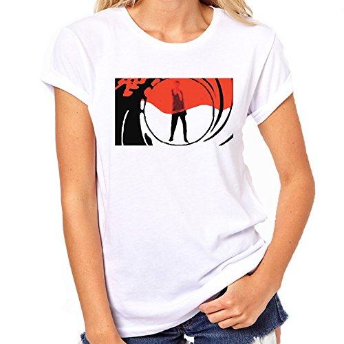 Teeznutz James Bond Lens Blood T-Shirt Womens Classic T-Shirt