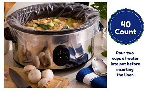 Extra Large Slow Cooker Liners Fits Up To 7-8 Quart Crock Pots 40 Ct