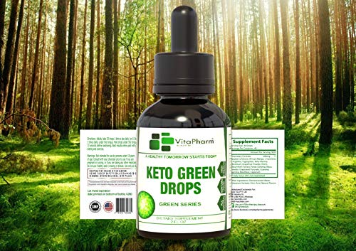 Keto Green Drops by VitaPharm Nutrition | Advanced Diet Drops for Men and Women | Simply Works with All Diets Including Keto (Ketogenic) to Speed Up Ketosis | Ultra High Potency 2 Fl oz 8