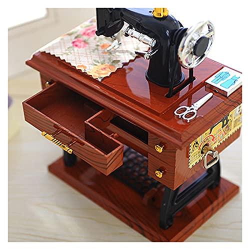 Joyero Organizador,Joyeros Mujer Organizador Caja de música de la costura de la caja de música de la vendimia Cajas de música de juguete musical for la boda de cumpleaños Decoración del hogar de la Na
