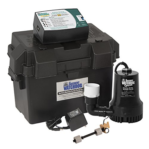 THE BASEMENT WATCHDOG Model BWSP 2,600 GPH at 0 ft. and 1,850 GPH at 10 ft. Special CONNECT Battery Backup Sump Pump System with WiFi Capable 24 Hour a Day Monitoring Controller