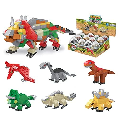 XALO Bloques de construcción de Huevos de Dinosaurio, Bloques de construcción para niños compatibles con Juguetes intelectuales de educación temprana