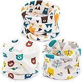 Adorel Bufanda Cuello Alto Algodón para Bebé Paquete de 3 Árbol & Oso