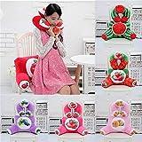 Asdflina Kissen Plüsch 3D Fruit Printing U-Form Nackenkissen Taille Rückenkissen Sofabett Büro-Auto-Stuhl-Dekor (Farbe : Watermelon, Größe : 23.62x11.81'')