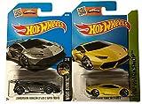 Hot Wheels 2016 HW Lamborghini Huracan LP 620-2 Super Trofeo & Lamborghini Huracan LP 610-4 2-Car Bundle Set