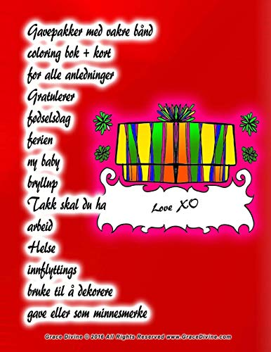 Gavepakker med vakre bånd coloring bok + kort for alle anledninger Gratulerer fødselsdag ferien ny baby bryllup Takk skal du ha arbeid Helse ... til å dekorere gave eller som minnesmerke