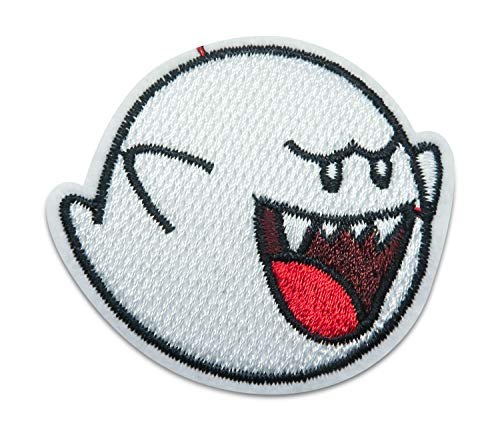 Finally Home witte geest, Ghost, Boo strijkplaatje patch om op te strijken | Mario patches, opstrijkmotieven