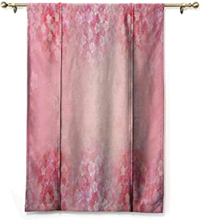 HCCJLCKS Room Dark Black Insulated Roman Blind Pale Pink Plum Blossom Botany Beauty Natural Art Spring Flowers Seasonal Background Print Privacy Protection Coral Ruby W27 xL64