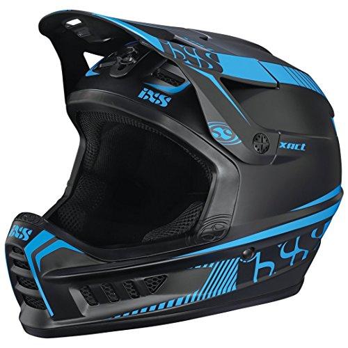 IXS Xact Fullface Helmet black/fluo blue Kopfumfang 49-52 cm 2017 Downhill Helme