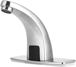 Automatic Sensor Faucet Bathroom Basin Sink Tap,Electronic Sensor Touchless Sink Hands-Free Faucet Motion Activated