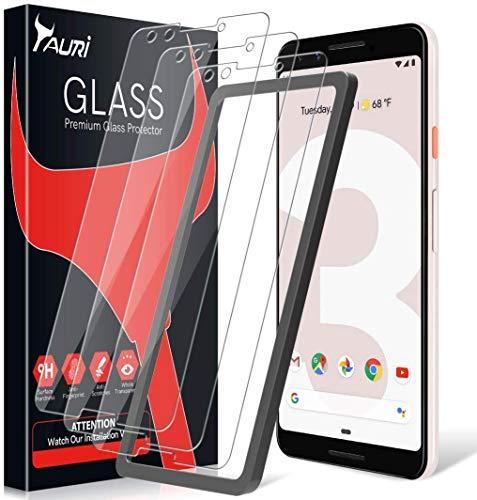 TAURI [3 Stück Schutzfolie für Google Pixel 3 Panzerglas, [Alignment Frame] [Einfache Installation][Lebenslanger Ersatz Garantie], Panzerglasfolie HD Klar Glas Displayschutzfolie für Pixel 3