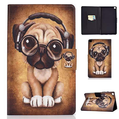 Lspcase Custodia Galaxy Tab A 8.0 Pollice 2019 Flip Cover Custodie in Pelle Portafoglio Fondina Tablet Case con Slot per Schede per Samsung Galaxy Tab A 8.0 2019 SM-T290 SM-T295 Cane