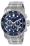 Invicta 0070 Pro Diver - Scuba Reloj para Hombre acero inoxidable Cuarzo Esfera azul