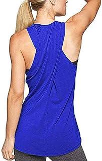 364e49f0c2f7c8 Lofbaz Women Cross Back Yoga Shirt Activewear Workout Clothes Racerback Tank  Top