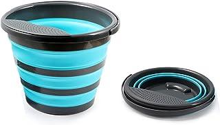 Seau Pliable en Silicone, Seau Retractable Portatif, Portable Seau à Eau Pliable, 10 litres, pour Les Sports De Plein Air,...