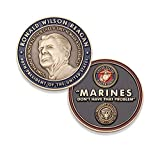 Marine Corps Challenge Coin - USMC Ronald Reagan U.S. Marine Quote Military Coin - Designed by Marines for Marines - Officially Licensed Product