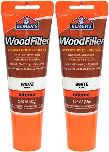 ELMER'S Carpenters Wood Filler, white, 2 Pack
