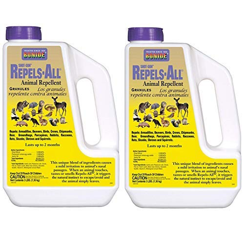 Bonide Products 2361 Repel Granules Animal Repellent, 3-Pound, Pack of 2