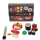 Juguetes cocina Vajilla Juego de la muchacha Casa Simulación Sushi Modelo pretender jugar Sushi Combinación Mini bricolaje juguete Alimentos