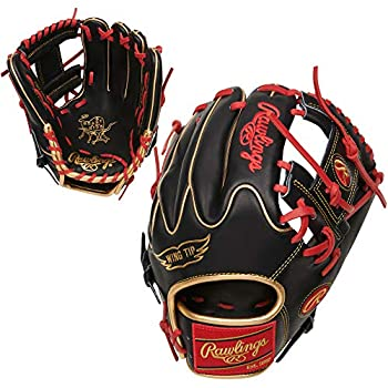 Rawlings Heart of The Hide Baseball Glove Pro I Web 11.75 inch Right Hand Throw Black/Red  PRO205W-2BG