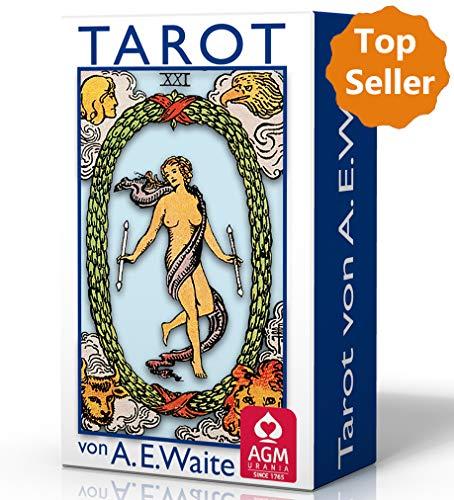 Tarot von A.E. Waite Mini (gutes Format für Reisen, Tarotkarten im Miniformat 4,4 x 7,4 cm)