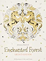 Enchanted Forest Artist's Edition: 20 Drawings to Color and Frame