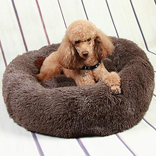 Pet Bed Mattress Dog Cat Cushion Pillow Mat, Rest Bed Blanket Soft Warm Large donut With Cushion Mat Warm Basket Fleece Lining Deluxe Puppy Cushion Pet Washable