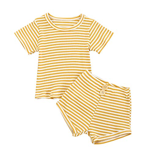 YWLINK Bebé NiñA 14 Piezas Traje De Ropa Verano Crop Top Camiseta De Manga Corta + Pantalones Cortos Conjunto De Tops Moda Lindo Regalo De CumpleañOs