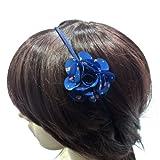 rougecaramel–Invernadero cabeza/Headband/diadema flor diseño Liberty–azul oscuro