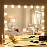 Fenair Makeup Mirror with Lights and Magnification USB...