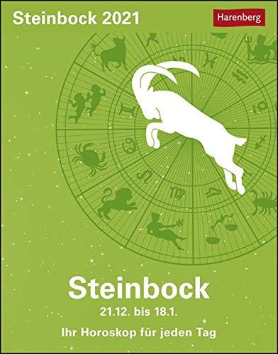 Steinbock Sternzeichenkalender 2021 - Tagesabreißkalender mit ausführlichem Tageshoroskop und Zitaten - Tischkalender zum Aufstellen oder Aufhängen - Format 11 x 14 cm