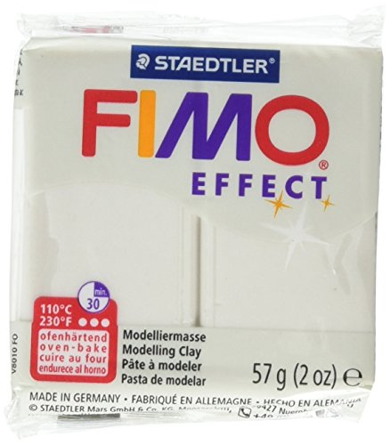 STAEDTLER Fimo Soft Polymer Clay 2 Ounces-8020-08 Metallic Pearl