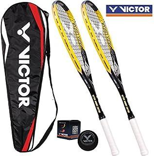 Victor 2 x Magan Center racchetta da squash con squash ball & squash custodia! High incrementa le Set per il giocatore esp...