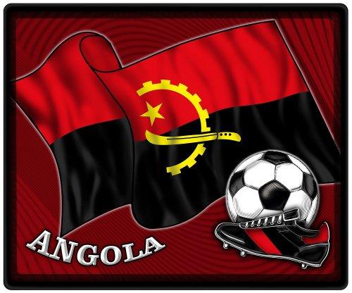 Muismat muismat met motief - Angola vlag voetbal voetbalschoenen - 83012 - maat ca. 24 x 20 cm.