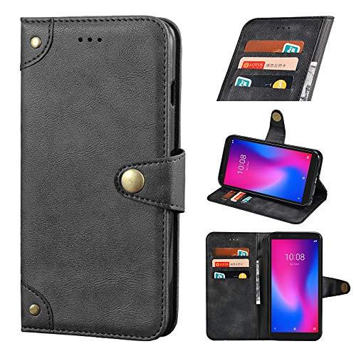 BELLA BEAR Funda para Nokia X10/X20 Flip Case [Portatarjetas] [Pata de Cabra] Carcasa Móviles Caso para Nokia X10/X20 Funda(Negro)