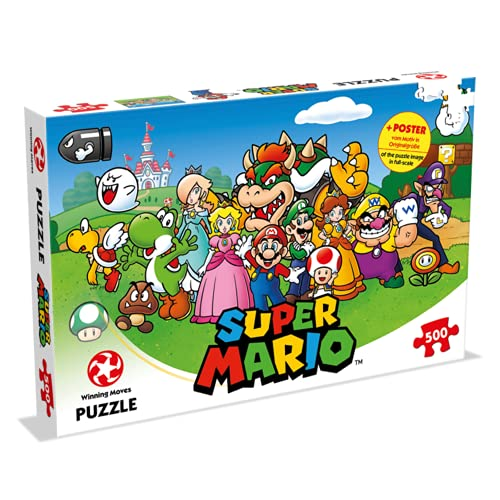 Winning Moves Super Mario and Friends-Juego de Mesa (puzle, versión Francesa) (A2103018)