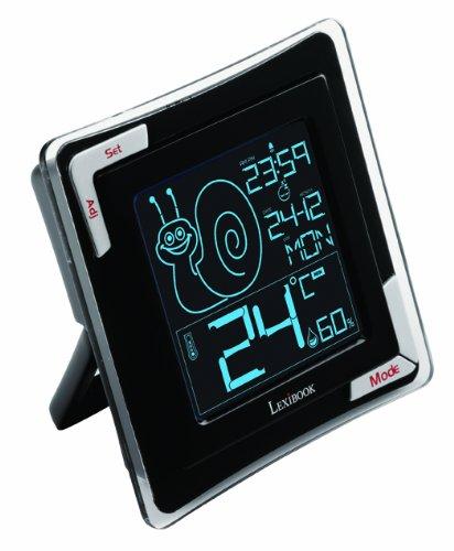 LEXIBOOK- Termómetro Digital de Mesa, Alta precisión, Sensor Humedad, Funcion Reloj y Despertador (TH020)