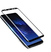 for Samsung Galaxy S8 Screen Protector-[2 Pack][3D Curved][Anti-Scratch] 9H Hardness Tempered Glass Film Screen Protector ...