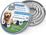 letosan Dog Flea and Tick Collar Enhanced with Natural Essential Oils, 8 Month Flea and Tick Treatment and Prevention for Dogs, One Size Fits All, Adjustable & Waterproof